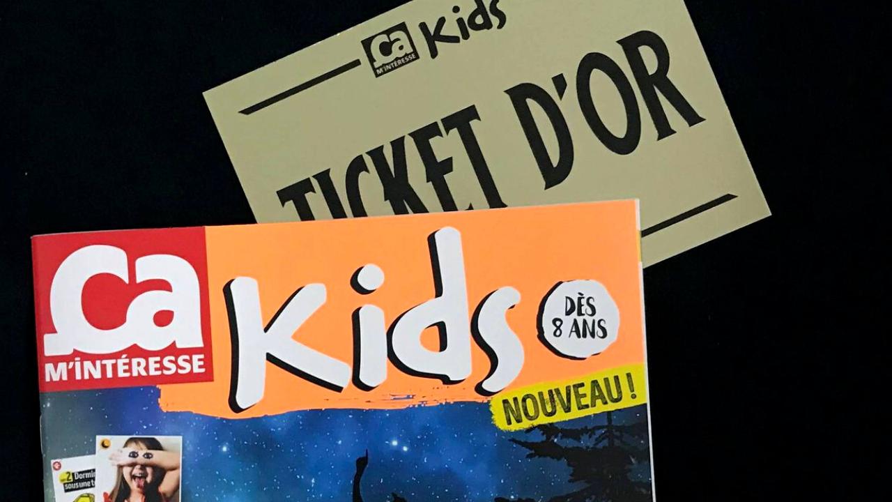 Nouveau Ça m'intéresse Kids : 5 tickets d'or à gagner !