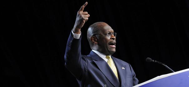 Herman Cain en campagne, le 7 octobre 2011 à Washington. © REUTERS.