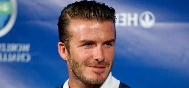 David Beckham à une conférence de presse à Los Angeles - Crédit : REUTERS