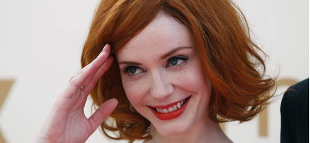Christina Hendricks interprète Joan Harris dans la série TV Mad Men ©REUTERS