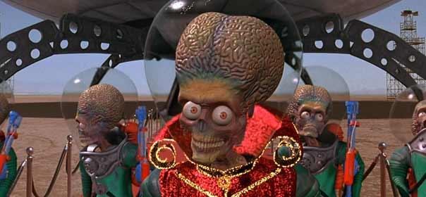 "Scène tirée du film ""Mars Attacks !"", de Tim Burton. © DR."