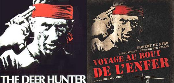 """Le chef d'oeuvre de Michael Cimino a changé de titre en France : son distributeur a préféré un nouveau titre plutôt qu'une traduction littérale. """"Le chasseur de cerf"""", c'est pa très vendeur. Universal Pictures / Carlotta films."""