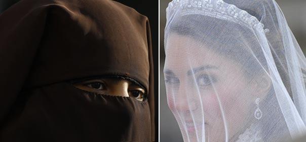 En France, lorsqu'on se marie à la mairie, le visage doit être identifiable. © REUTERS