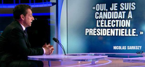 Nicolas Sarkozy a mis fin au faux suspense de sa candidature