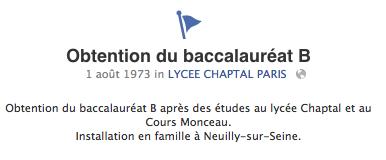 """capture d'écran du """"journal"""" de Nicolas Sarkozy sur Facebook"""