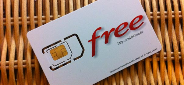 Une carte SIM Free Mobile. © Free.