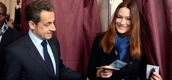 Nicolas Sarkozy vote à Paris le 22 avril 2012. ©REUTERS