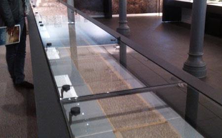 Le tapuscrit de Sur la route est exposé au Musée des lettres et manuscrits, à Paris. © Quoi.info