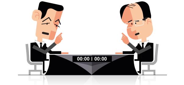 Mercredi soir, les deux candidats se sont livrés à une bataille de chiffres. © Quoi.info