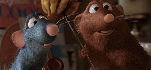 """Image du film """"Ratatouille"""", 2006, où l'on suit les aventures d'un rat qui souhaite devenir chef dans un grand restaurant de Paris. © Allociné"""