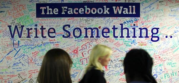 Une ardoise Facebook dans un bureau de New York, décembre 2011. © REUTERS