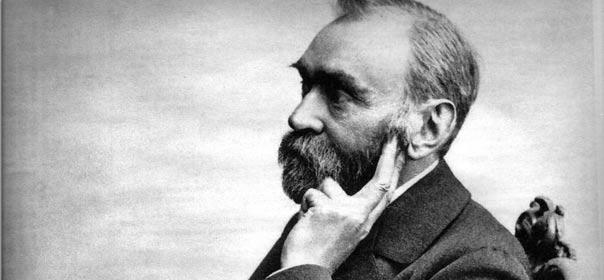 Alfred Nobel, inventeur de la dynamite et créateur des prix Nobel, photo via Wikimedia Commons.