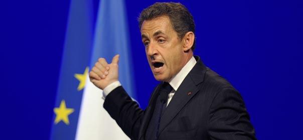 Nicolas Sarkozy en campagne à Toulouse, le 29 avril 2012. © REUTERS