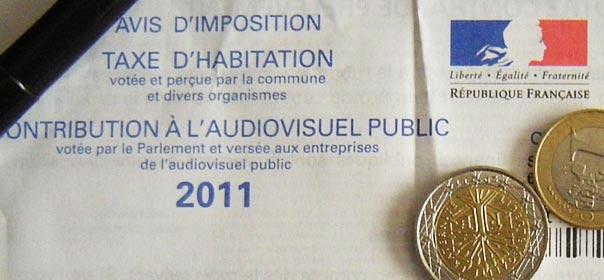 Taxe d'habitation et contribution à l'audiovisuel public 2011. DR © Quoi.info