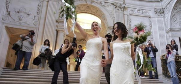 Revenir totalement sur le mariage gay en cas d'alternance en 2017 sera plus compliqué que prévu. © REUTERS