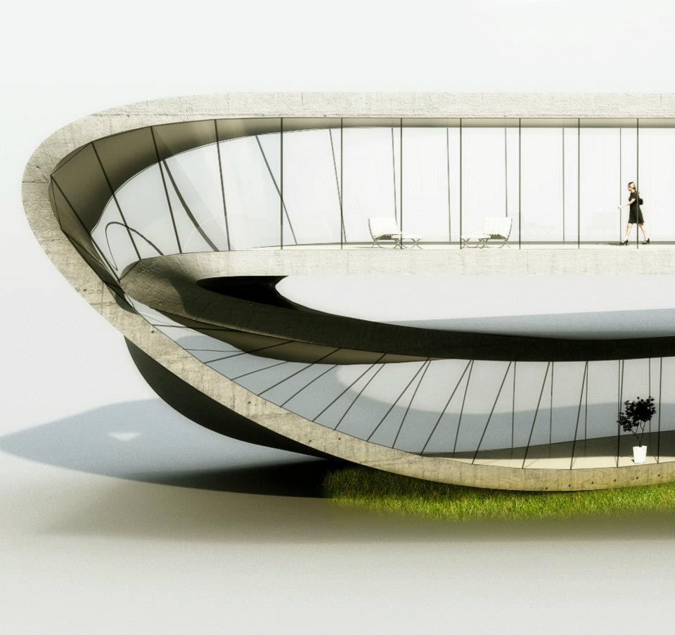 """La """"Landscape house"""", via © Universe Architecture (Facebook)."""
