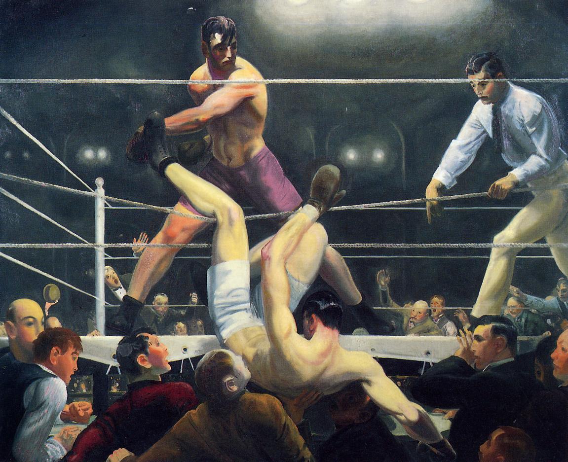 """Dempsey and Firpo"", 1924. Sheldon C. Collins / Domaine public"