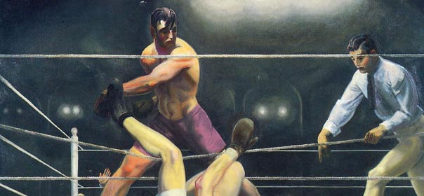 """""""Dempsey and Firpo"""", 1924, by George Bellows."""