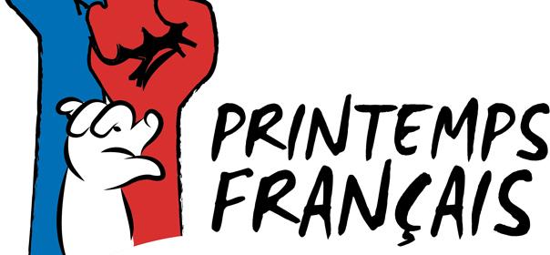 """affiche et logo du """"Printemps français"""" de Beatrice Bourges."""