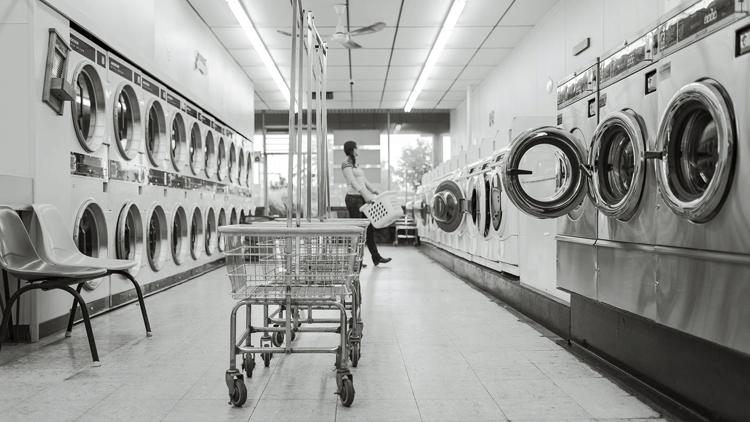 Machine à laver, laverie, lave