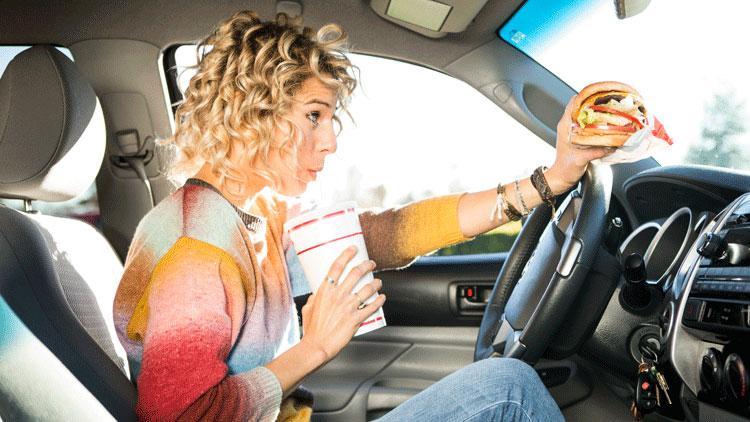 conduire, manger