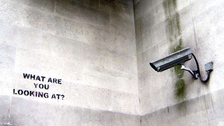 Banksy, surveillance