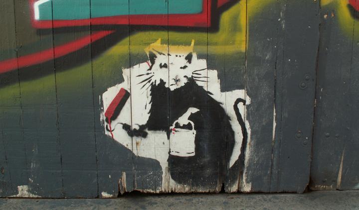 Banksy, street art , rat