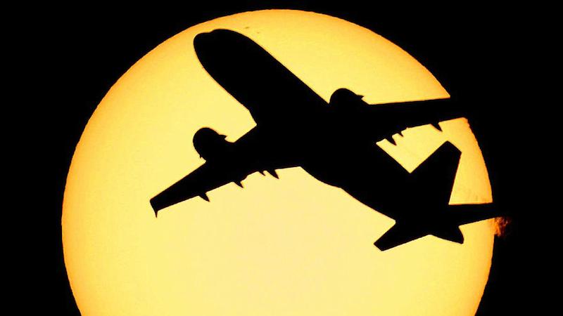 soleil, avion