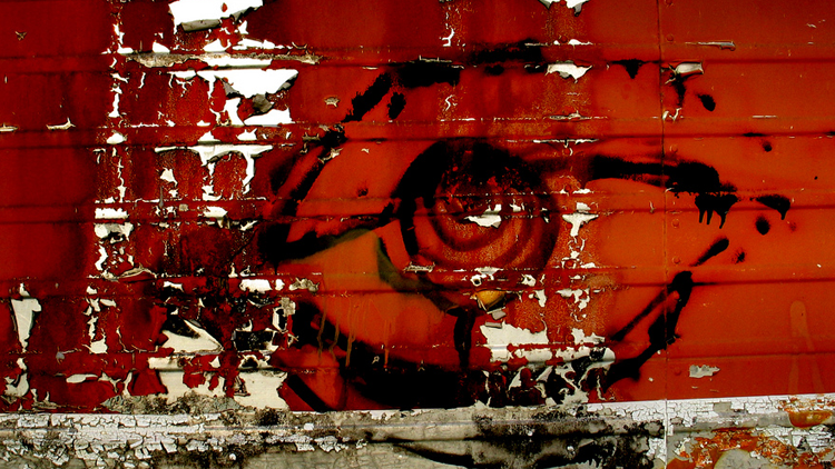 vision, photo, yeux rouges
