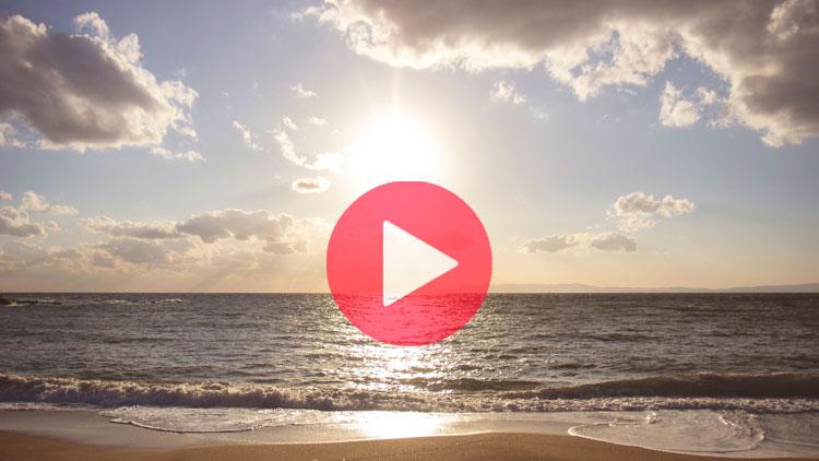 soleil, plage, sable, mer