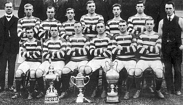 L'équipe des Celtics en 1908. ©CC