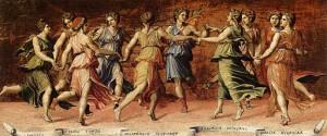 Apollon et les muses, de Baldassare Peruzzi © Wikimedia Commons