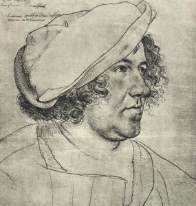 Gérard Dépardieu ? Non, un sosie ! Bourgmestre Jakob Meyer, dessin de Holbein le Jeune © D.R.
