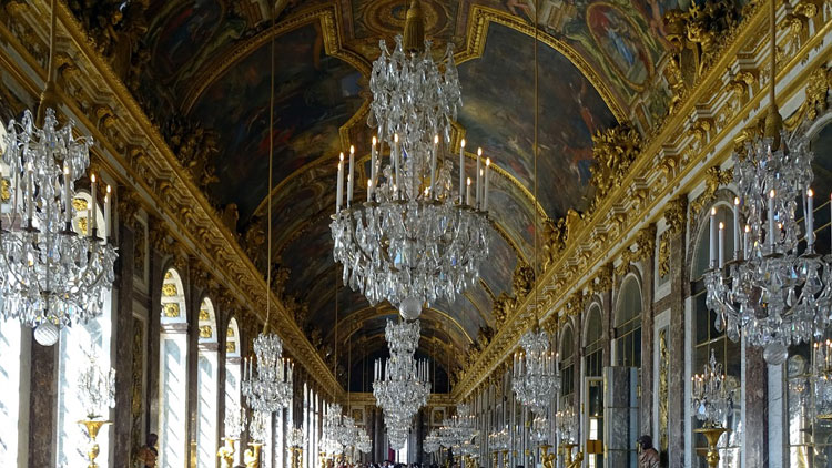 miroirs, lustres, Versailles