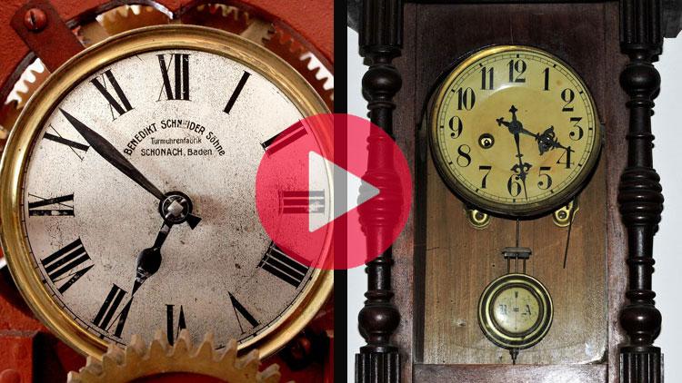 horloge, pendule, différence entre une horloge et une pendule