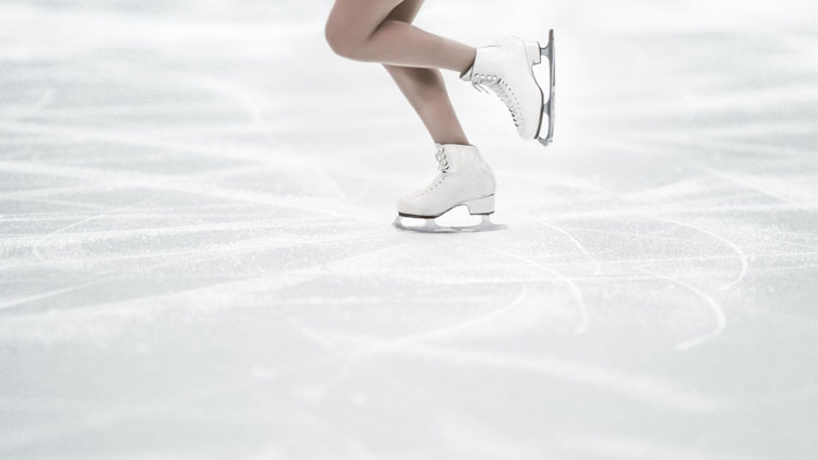patin à glace, tournis, patineuse