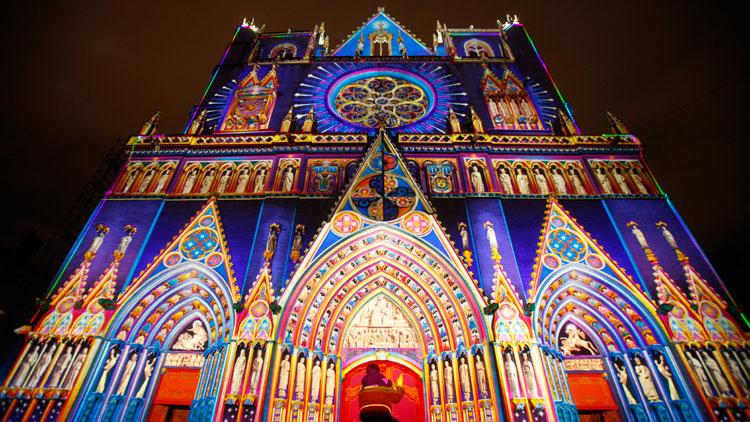 Fête des Lumières, 8 décembre, Lyon, illuminations