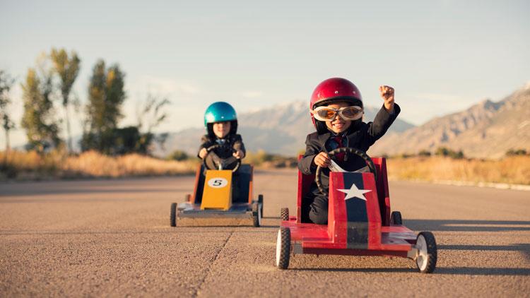 course automobile, enfants, karting