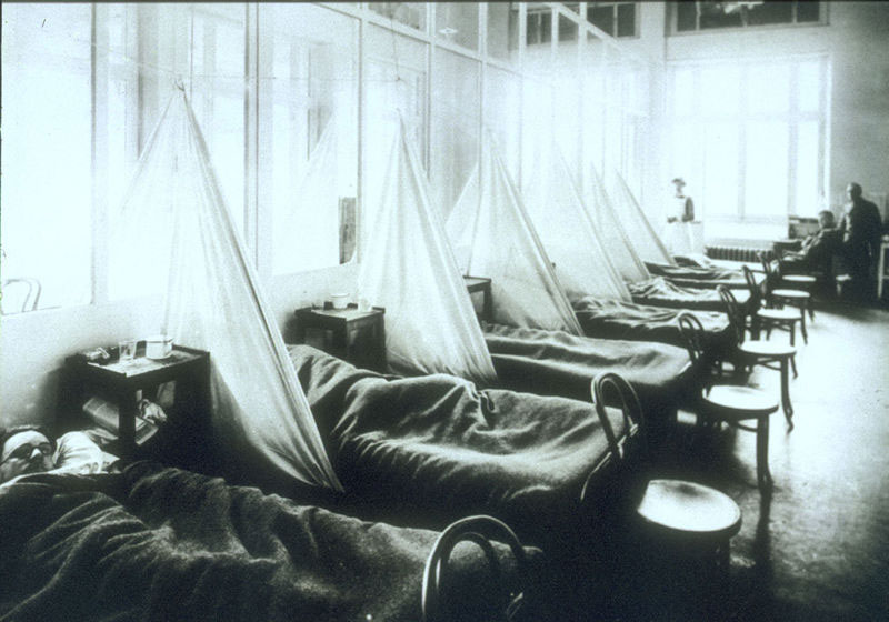 militaires, hôpital, malades