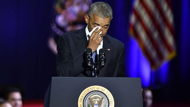 obama, mouchoir, larmes, pleurer