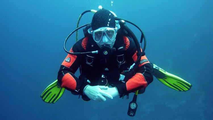 plongée sous marine, plongeur, respirer, bouteille, oxygène