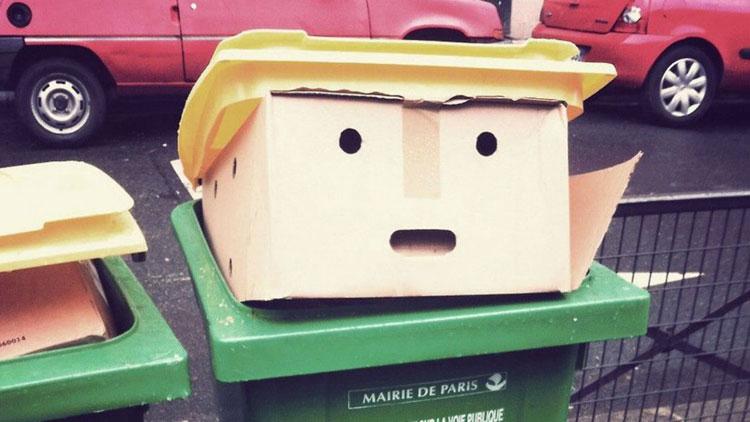 déchets, Trump, poubelle
