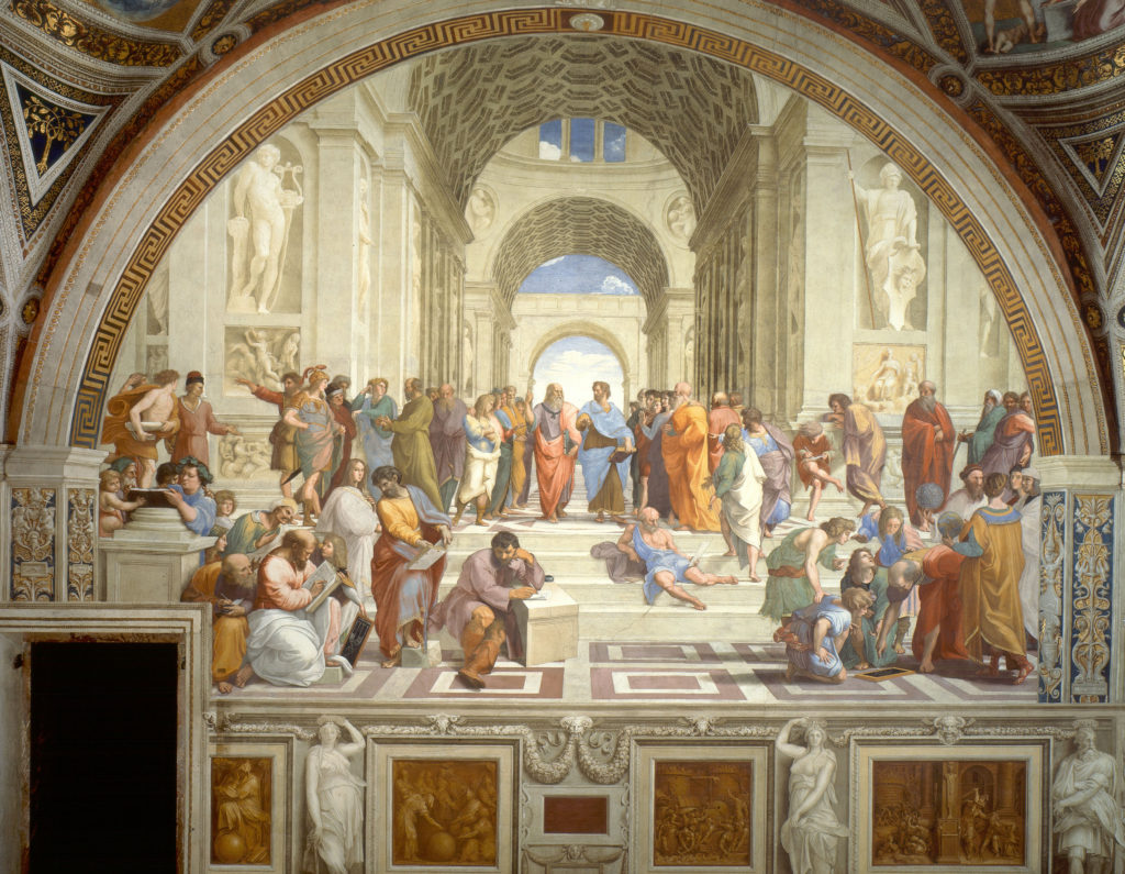 Par Raphaël — Stitched together from vatican.va, Domaine public
